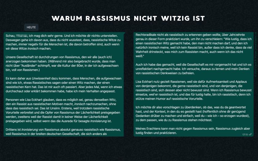 Warum Rassismus nicht witzig ist – © 2020 Claus R. Kullak | www.prepon.de